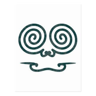 Tattoo cara Polynesia face Postal