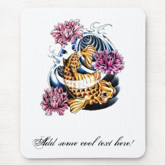 Tatuaje afortunado japonés oriental fresco de la c alfombrilla de ratón
