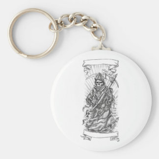 Tatuaje de la cinta de la guadaña del parca llavero