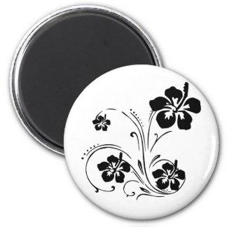 Tatuaje de la flor imán redondo 5 cm