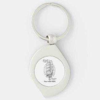Tatuaje de los marineros de la nave llavero