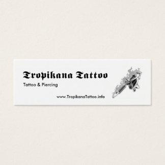 Tatuaje de Tropikana Tarjeta De Visita Pequeña