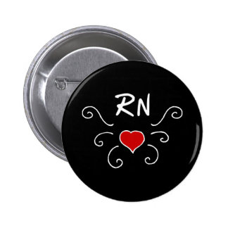Tatuaje del amor de la enfermera del RN Chapa Redonda De 5 Cm