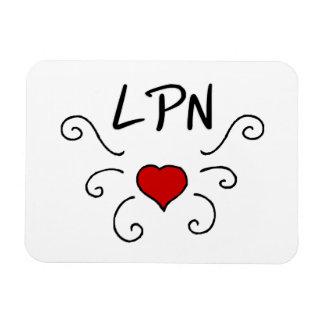 Tatuaje del amor de LPN Imán Rectangular