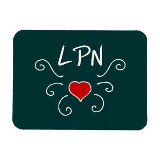 Tatuaje del amor de LPN Imán Foto Rectangular