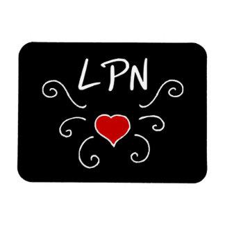 Tatuaje del amor de LPN Imán Flexible
