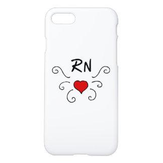 Tatuaje del amor del RN de las enfermeras Funda Para iPhone 7