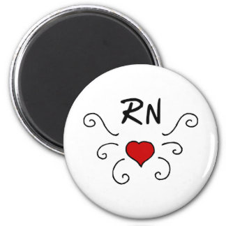 Tatuaje del amor del RN Imán Redondo 5 Cm