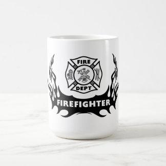 Tatuaje del bombero taza de café