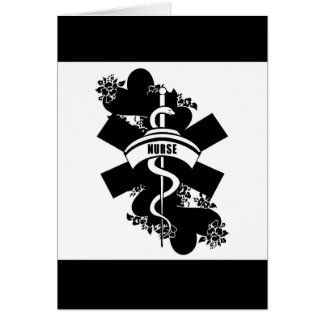 Tatuaje del corazón de la enfermera tarjeta pequeña