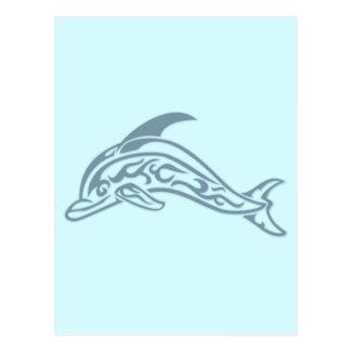 Tatuaje del delfín postal