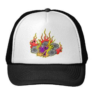 Tatuaje del dragón de la escuela vieja gorras