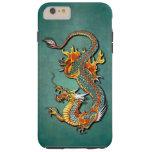 Tatuaje del dragón del fuego de la fantasía funda de iPhone 6 plus tough