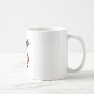 Tatuaje del dragón - rojo taza de café