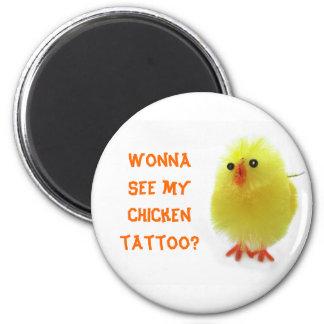 Tatuaje del pollo imanes