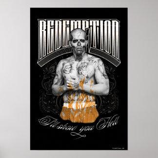 """Tatuaje del """"rescate"""" del EL Diablo del pelotón el Póster"""