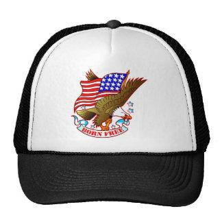 Tatuaje Eagle, bandera de la escuela vieja y lleva Gorras De Camionero
