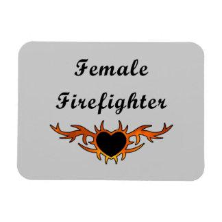 Tatuaje femenino del bombero imanes flexibles