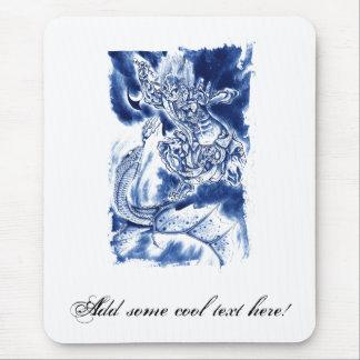 Tatuaje japonés clásico fresco del demonio alfombrilla de ratón