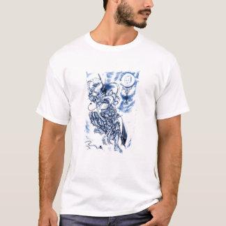 Tatuaje japonés clásico fresco del demonio camiseta
