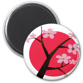 Tatuaje japonés de la flor de cerezo imán de frigorífico
