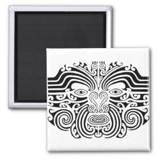 Tatuaje maorí - blanco y negro imanes