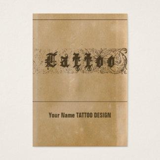 TATUAJE - negocio, tarjeta del horario