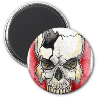 Tatuaje quebrado del cráneo imanes