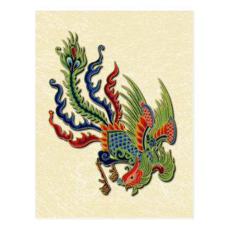 Tatuaje rico chino del pavo real de Extremo Postal