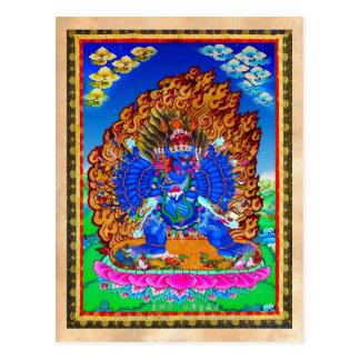 Tatuaje tibetano oriental fresco de Yamantaka del Postal