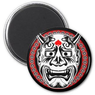 Tatuajes tribales con diseño tribal de la máscara  imán de frigorífico
