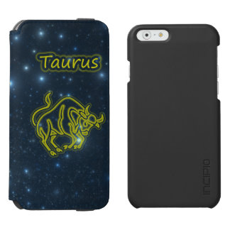 Tauro brillante funda cartera para iPhone 6 watson