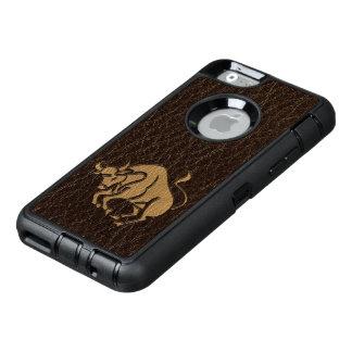 Tauro de la Cuero-Mirada Funda OtterBox Defender Para iPhone 6