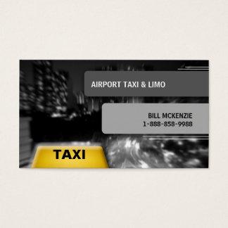 Taxi 2 de la tarjeta de visita del taxi