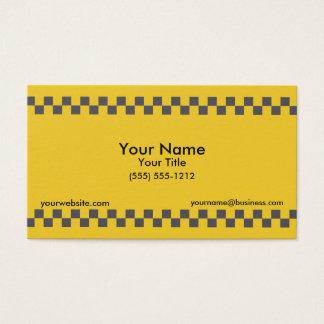 Taxi a cuadros tarjeta de visita
