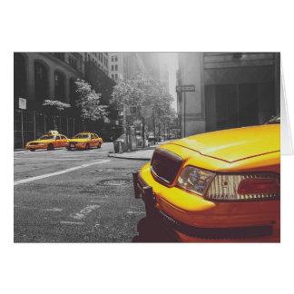Taxi amarillo 01 tarjeta de felicitación