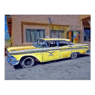 Taxi amarillo de La Habana Postal
