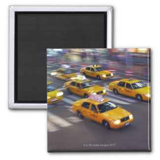 Taxi amarillo de Nueva York Iman Para Frigorífico