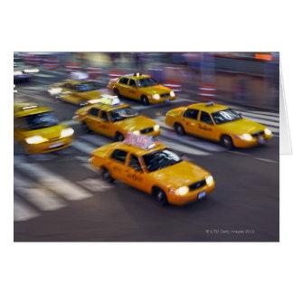 Taxi amarillo de Nueva York Tarjeta De Felicitación