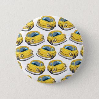 Taxi amarillo del taxi chapa redonda de 5 cm
