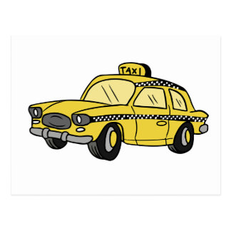 Taxi amarillo postal
