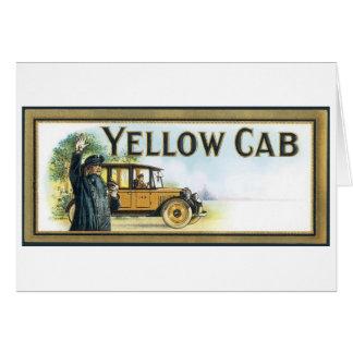 Taxi amarillo tarjeta de felicitación
