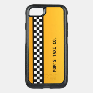 Taxi Co de la mamá de la raya amarilla del taxi el Funda Commuter De OtterBox Para iPhone 7