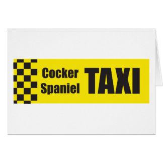 Taxi cocker spaniel tarjeta de felicitación