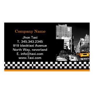 Taxi de la ciudad en negro tarjetas de visita