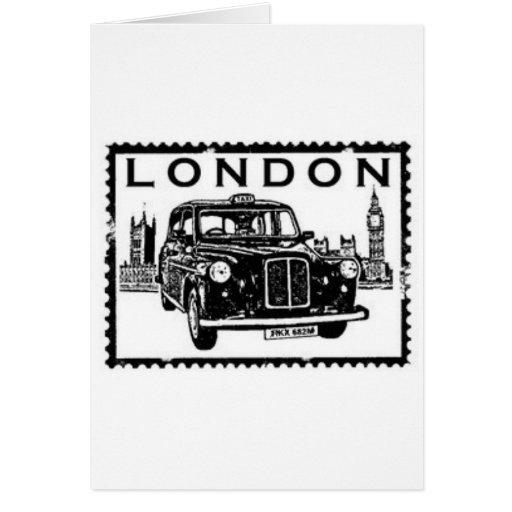 Taxi de Londres Tarjetas