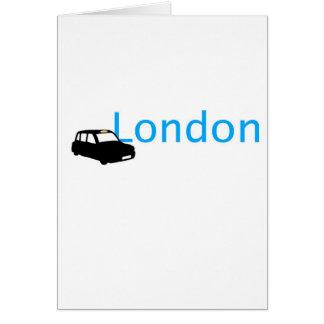 Taxi de Londres Tarjetón