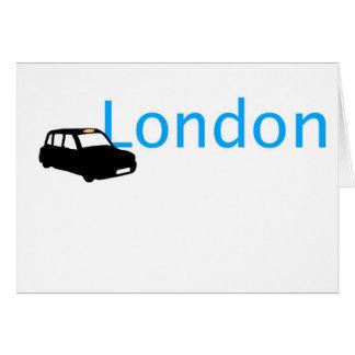 Taxi de Londres Felicitación