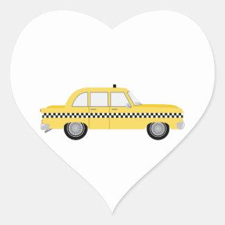 Taxi de Nueva York Pegatina En Forma De Corazón