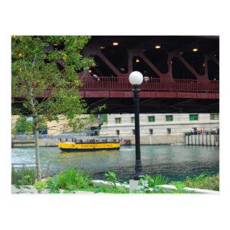 Taxi del agua de Chicago Tarjetas Postales
